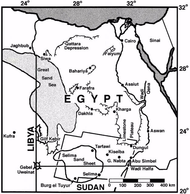 Geographic map of Egypt