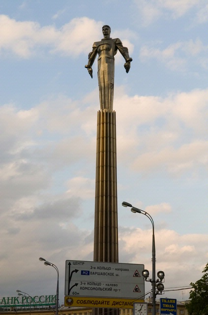 The monument to Gagarin in Moscow.