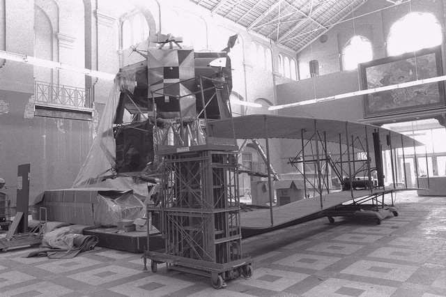 Lunar Module and Wright Airplane in Arts & Industries Building