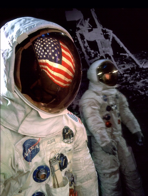Apollo 11 Armstrong and Aldrin Space Suits