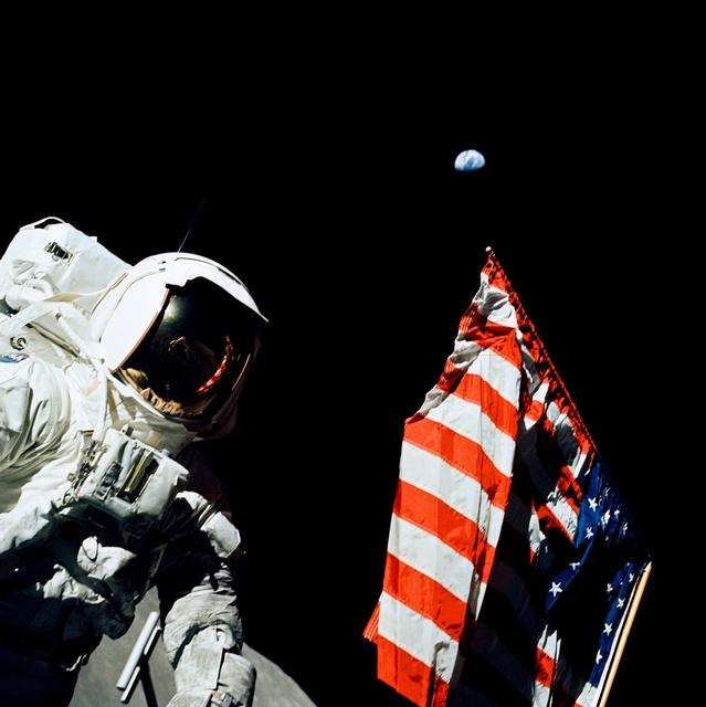 Jack Schmitt on the Moon