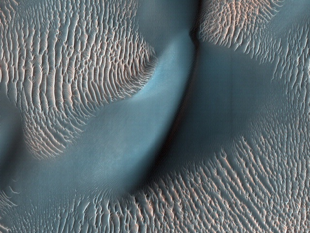 Sand Dunes and Ripples in Proctor Crater, Mars