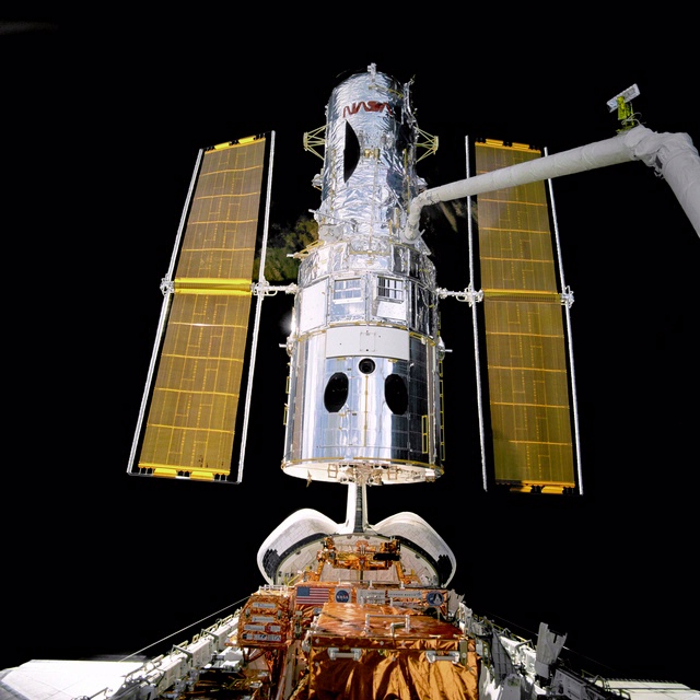 Hubble Space Telescope with Discovery