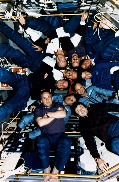 Crewmembers of STS-71, Mir-18 and Mir-19
