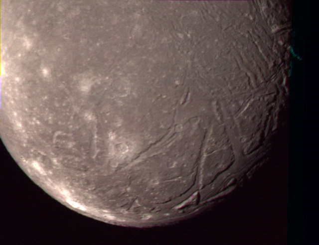 Complex Terrain on Ariel, Satellite of Uranus