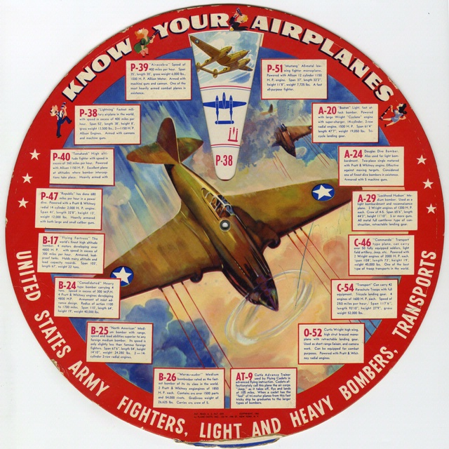 """Know Your Airplanes"" wheel chart"