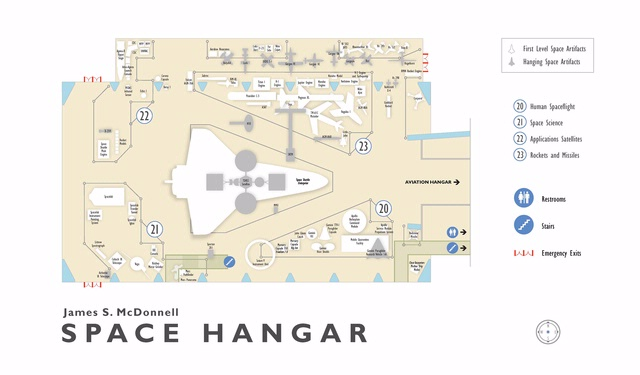 James S. McDonnell Space Hangar 2004 Floorplan