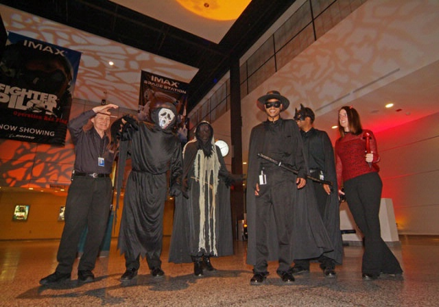 Teens and Adults in Costume at Air & Scare