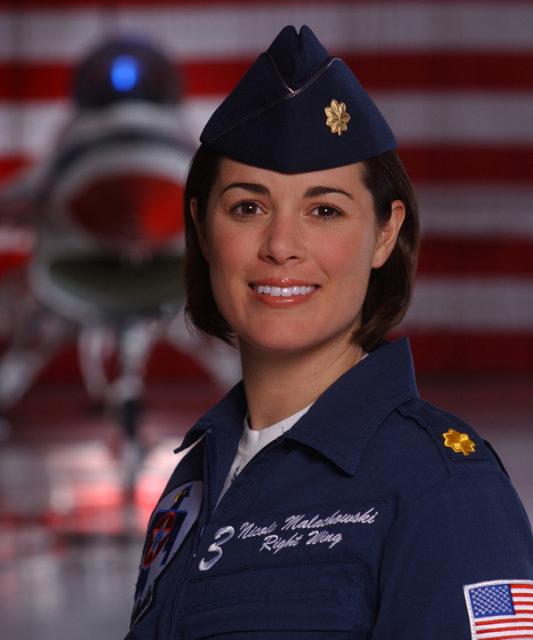 Thunderbird Pilot Maj Nicole Malachowski National Air