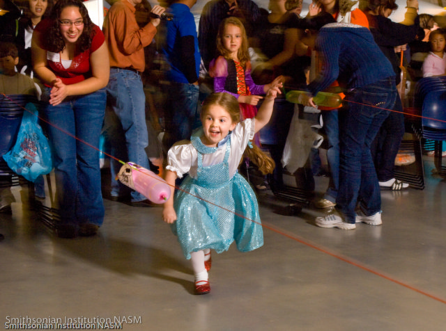A Costumed Visitor Enjoys Air & Scare at the Seven F. Udvar-Hazy Center