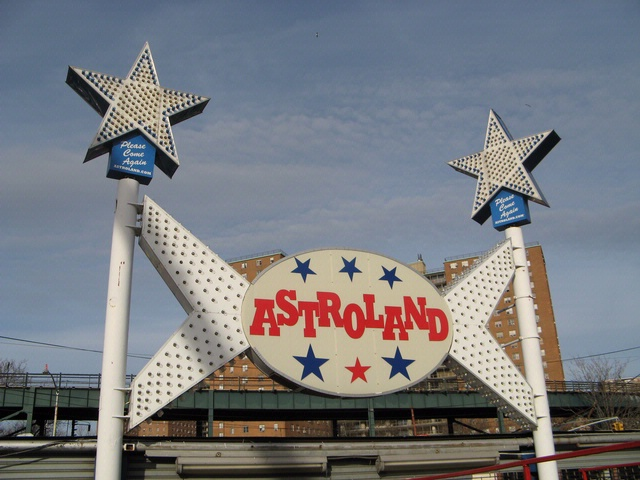 Astroland Entrance Sign