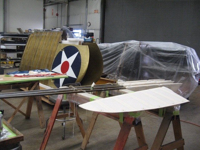 Curtiss R3C-2 Racer in the Restoration Shop