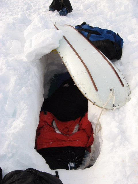 Maria Banks' Survival Trench, Antarctica