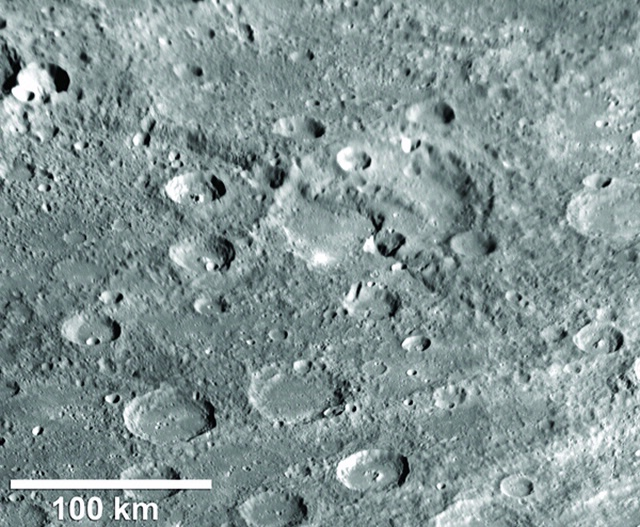 Messenger View of thrust fault structure on Mercury