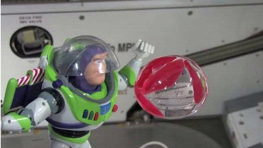 Buzz Lightyear at the International Space Station