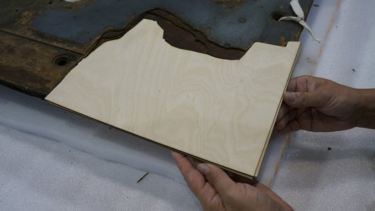 Third Layer of Plywood Fill