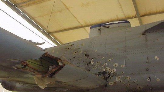 Capt. Kim Campbell's Battle Damaged A-10