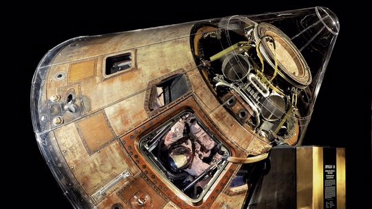 Apollo 11 command module Columbia in Boeing Milestones of Flight Hall