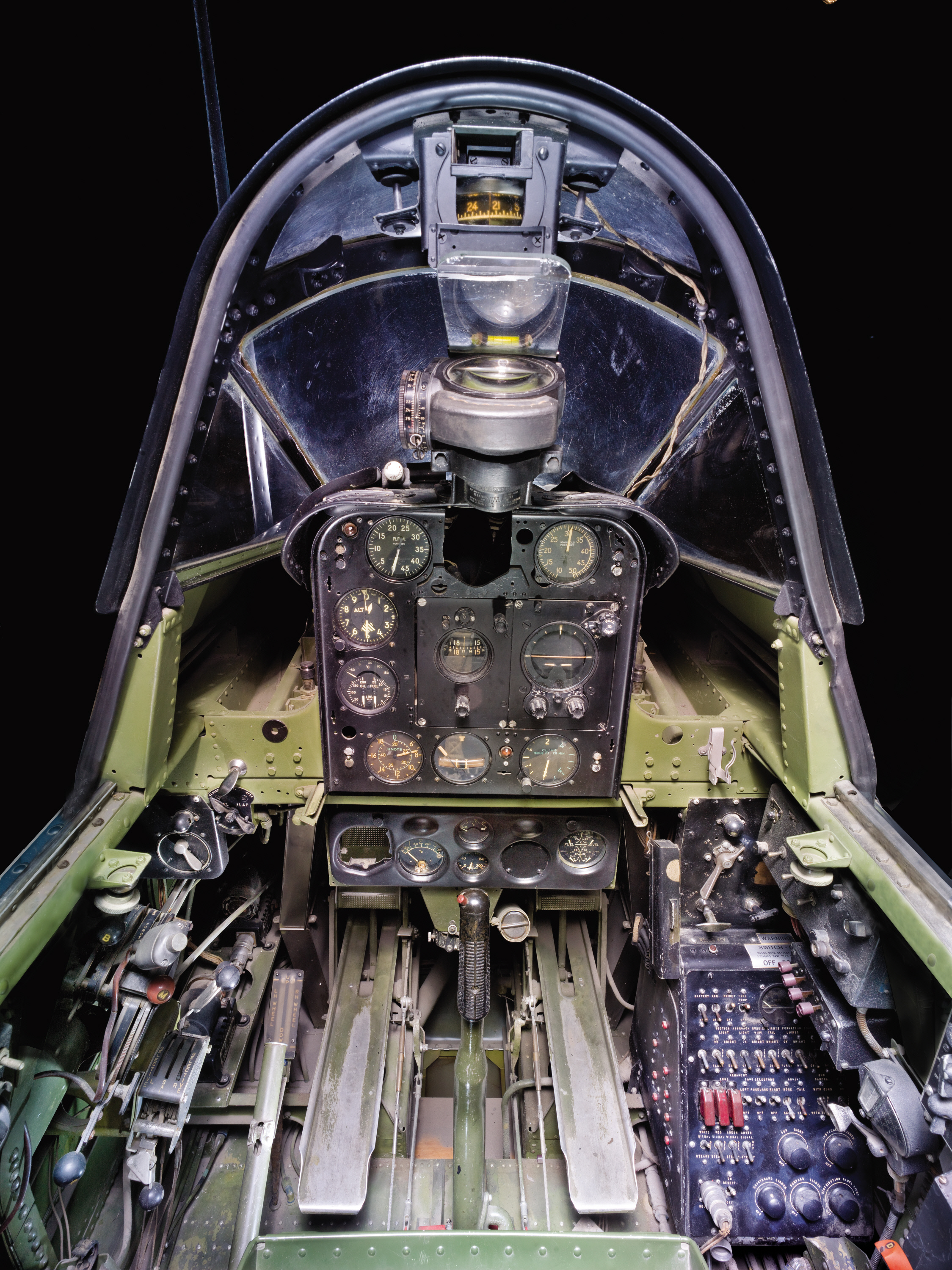 Cockpit Of The Douglas Sbd 6 Dauntless Cockpits