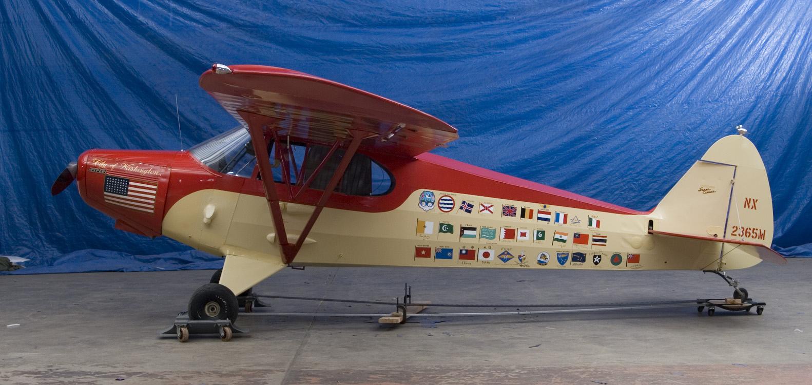 Image of : Piper PA-12 Super Cruiser