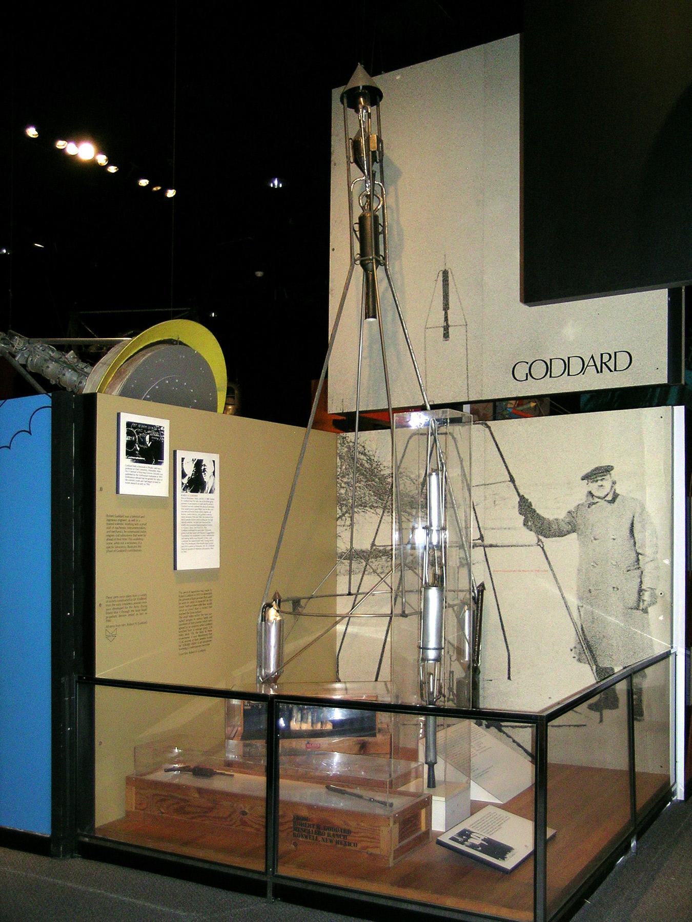 Image of : Rocket, Liquid Fuel, Hoopskirt, R.H. Goddard