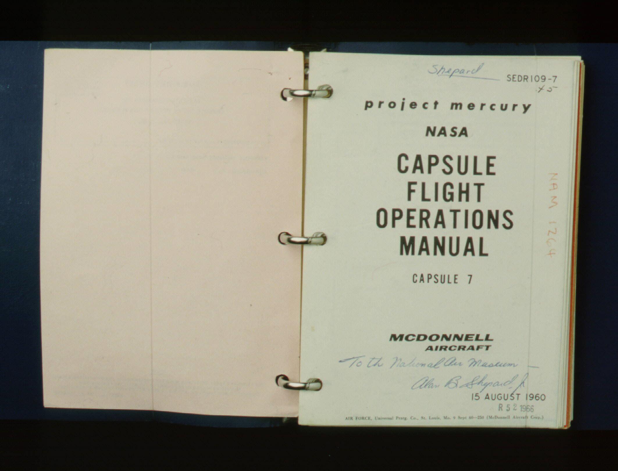 Image of : Flight Operations Manual, Freedom 7