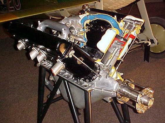 Hispano Suiza A Wright Martin V 8 Engine