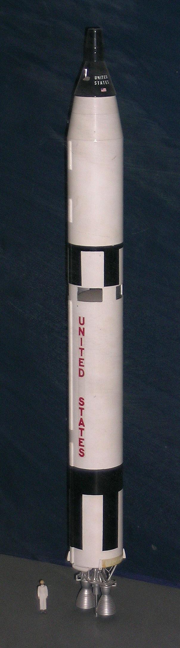 Image of : Model, Rocket, Gemini Titan II, 1:48
