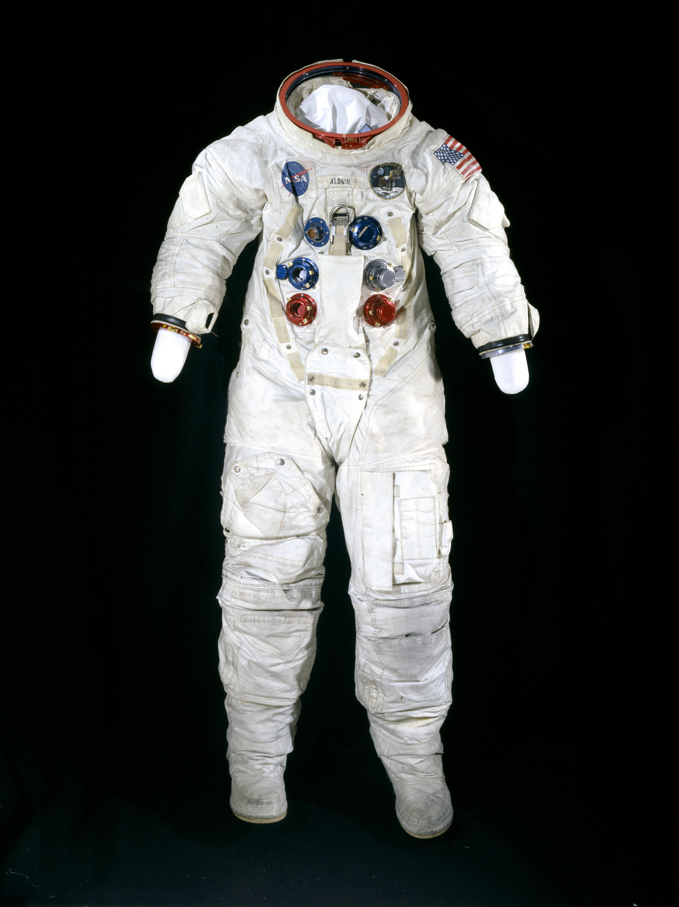 Image of : Pressure Suit, A7-L, Aldrin, Apollo 11, Flown