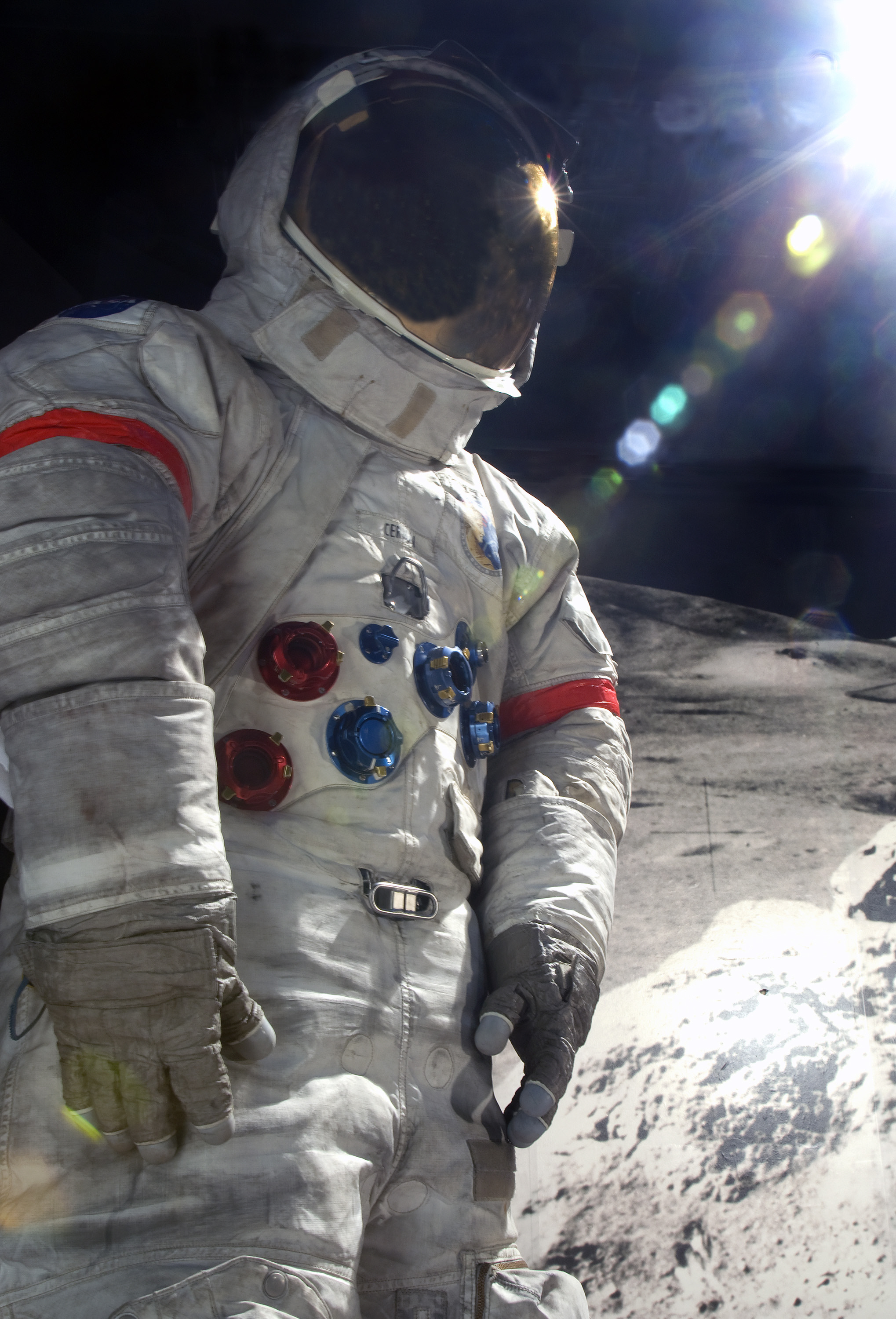 Image of : Pressure Suit, A7-LB, Cernan, Apollo 17, Flown
