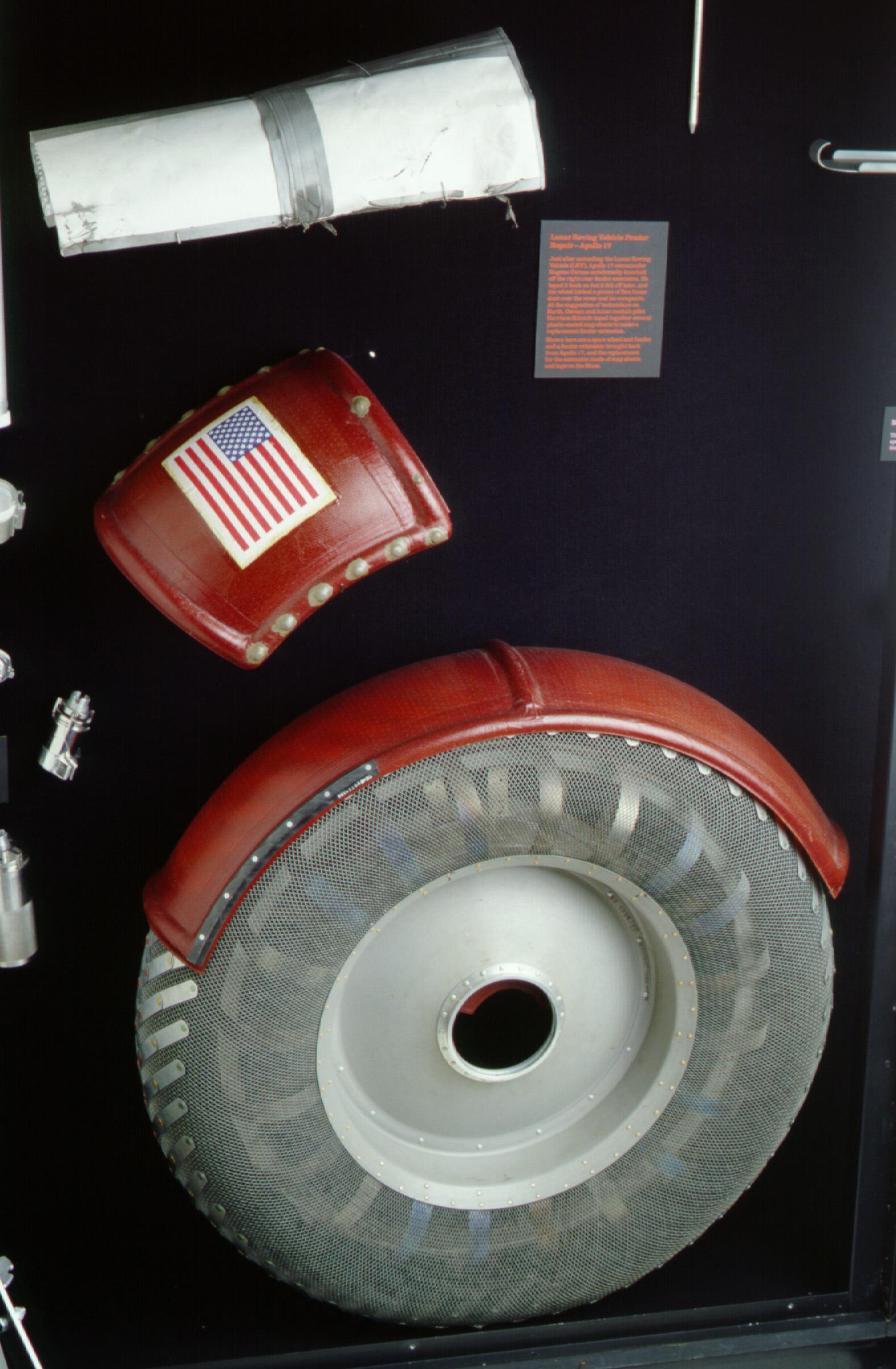 Image of : Extension, Fender, Lunar Roving Vehicle, Apollo17