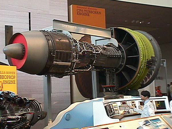 General Electric CF6-6 Turbofan Engine, Cutaway | National Air and