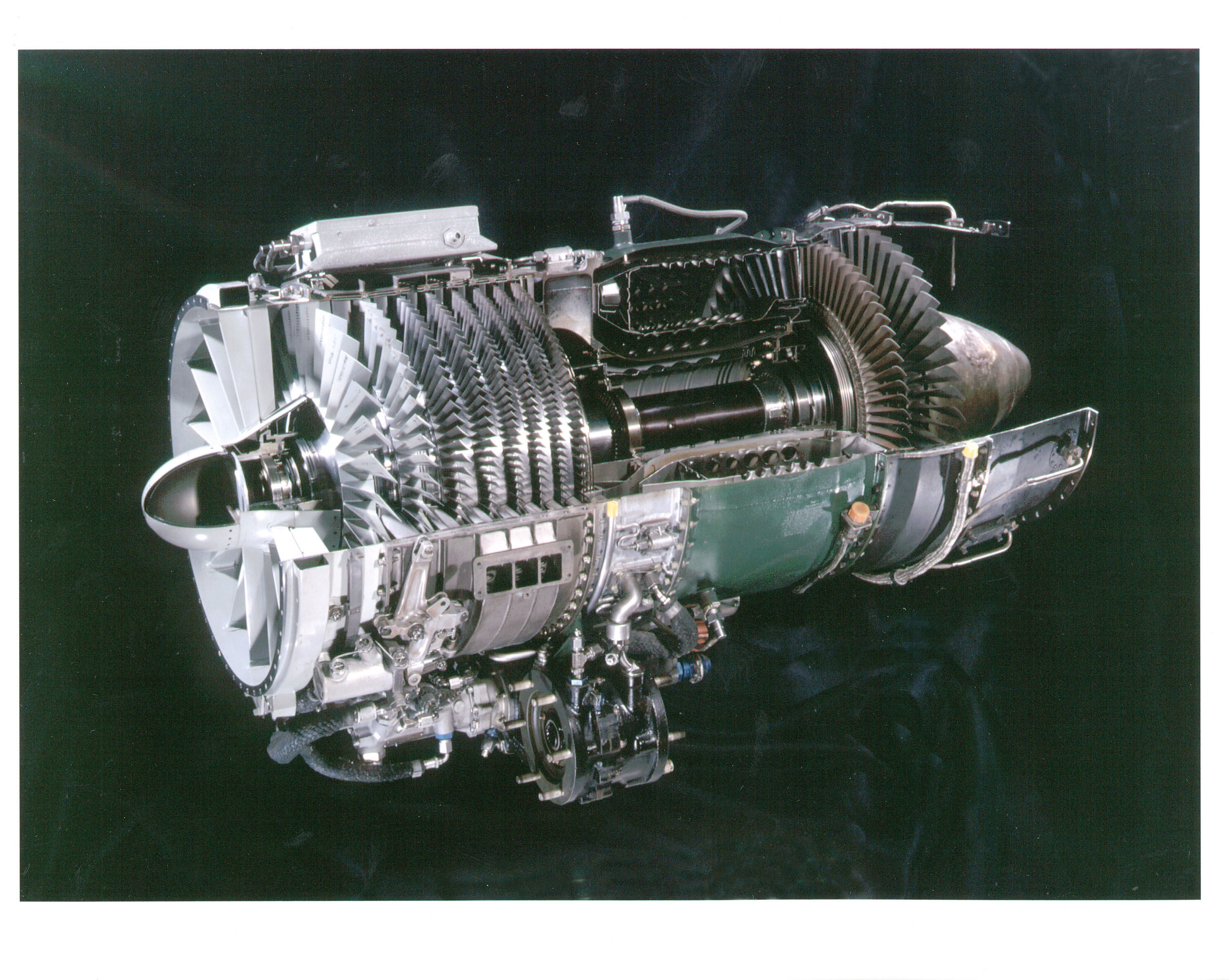 General Electric J85 GE 17A Turbojet Engine Cutaway