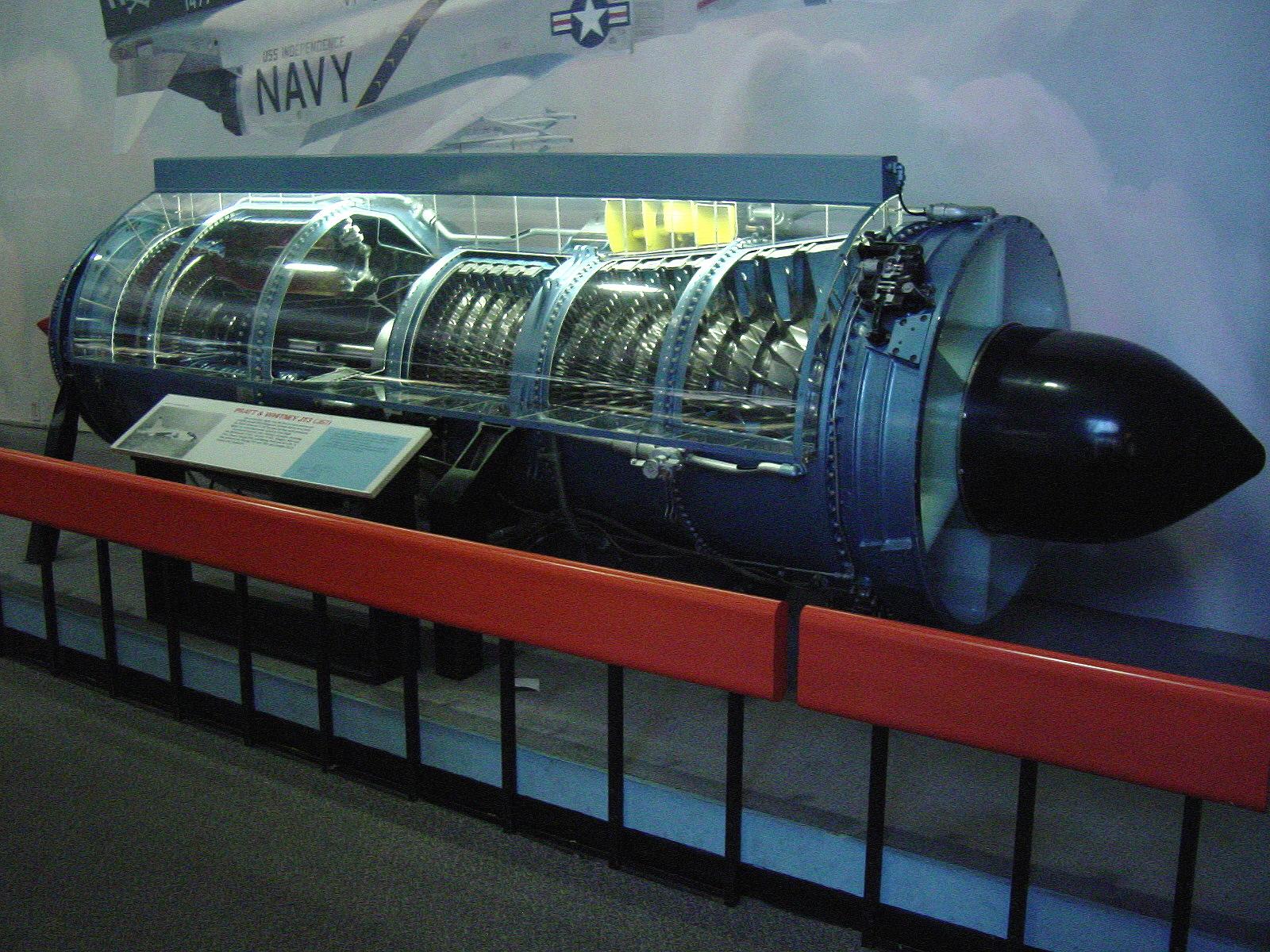 Image of : Pratt & Whitney J57-P-29W Turbojet Engine, Cutaway