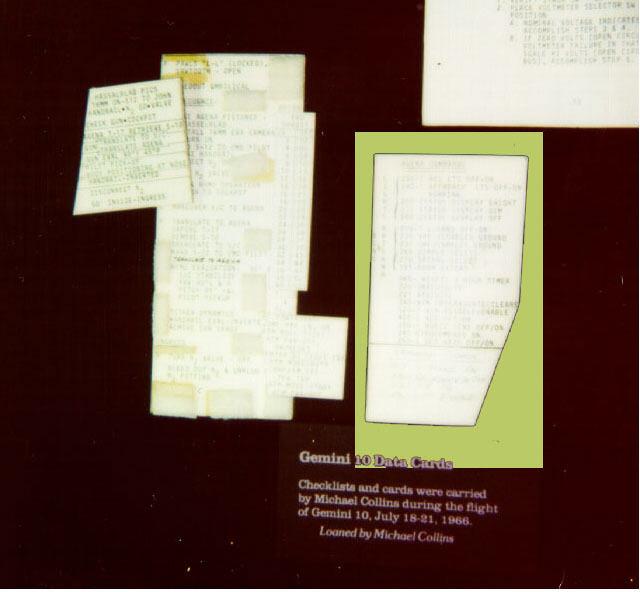 Image of : Checklist Card, Agena Commands, Gemini 10