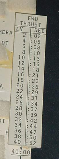 Image of : Checklist Card, Forward Thrust, Gemini 10