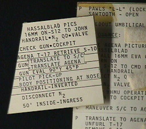 Image of : Checklist Card, Hasselblad Pictures, Gemini 10