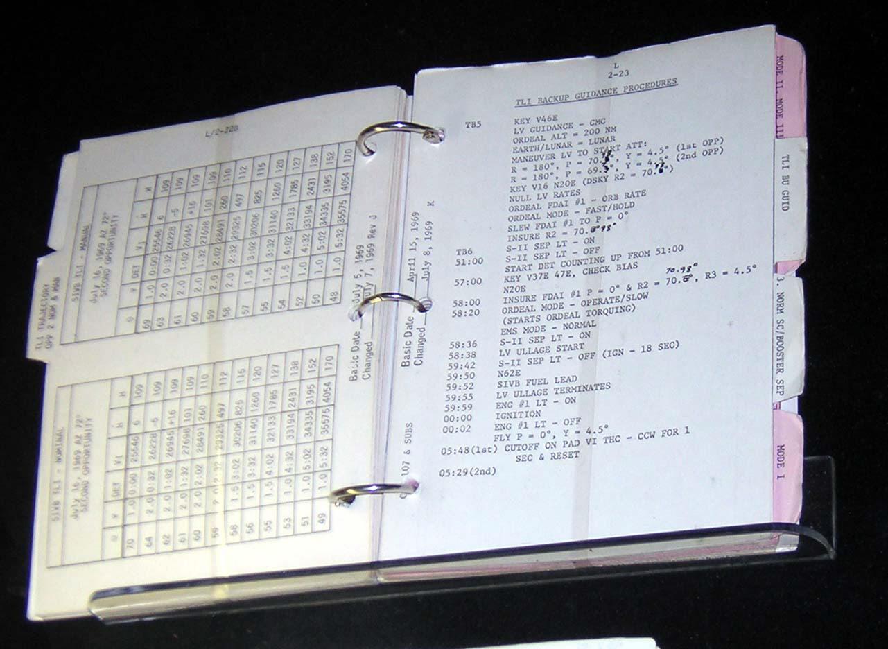 Image of : Checklist, Launch Operations, Apollo 11