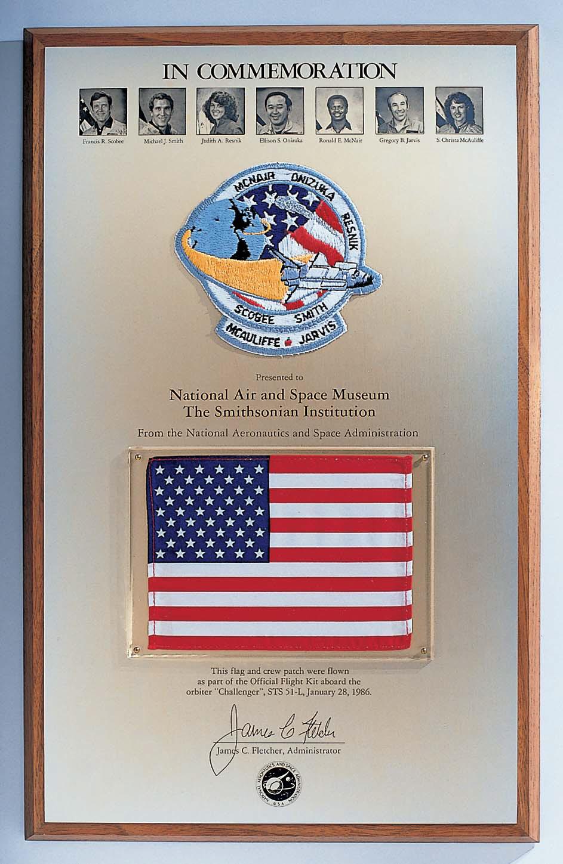 Image of : Plaque, Memorial, Challenger STS 51-L Crew