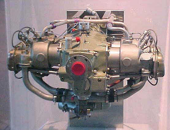 Teledyne Continental Motors Voyager 200 Horizontally