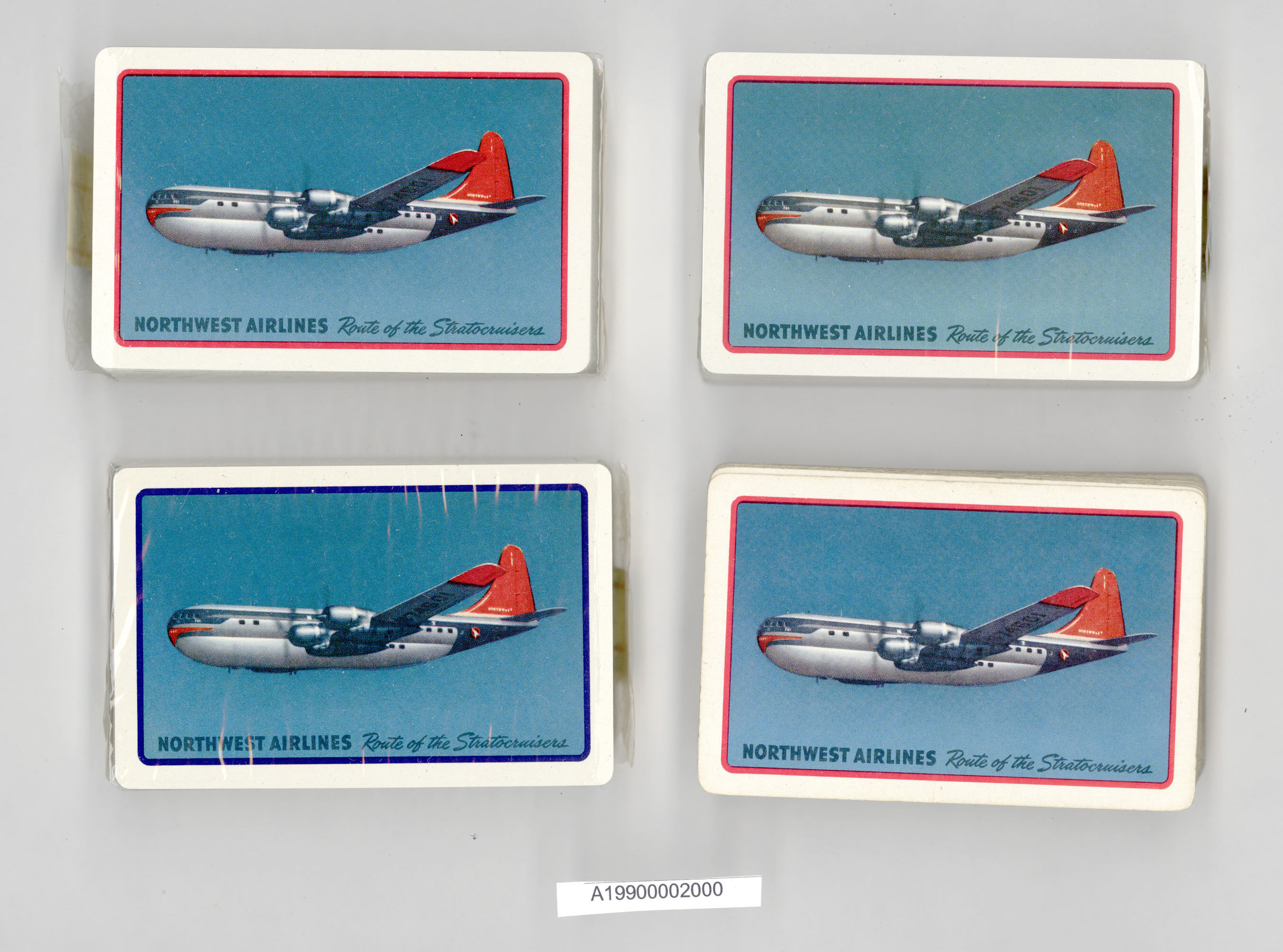Image of : Playing Cards, Northwest Airlines