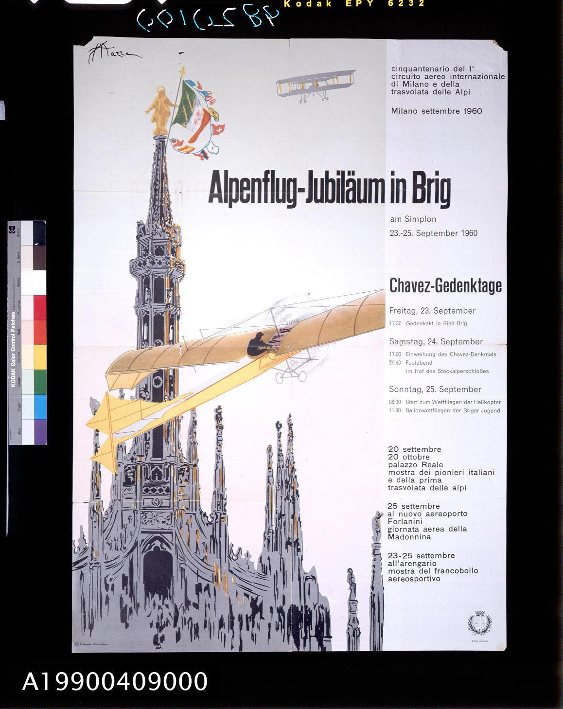 Image of : Alpenflug-Jubilaum in Brig