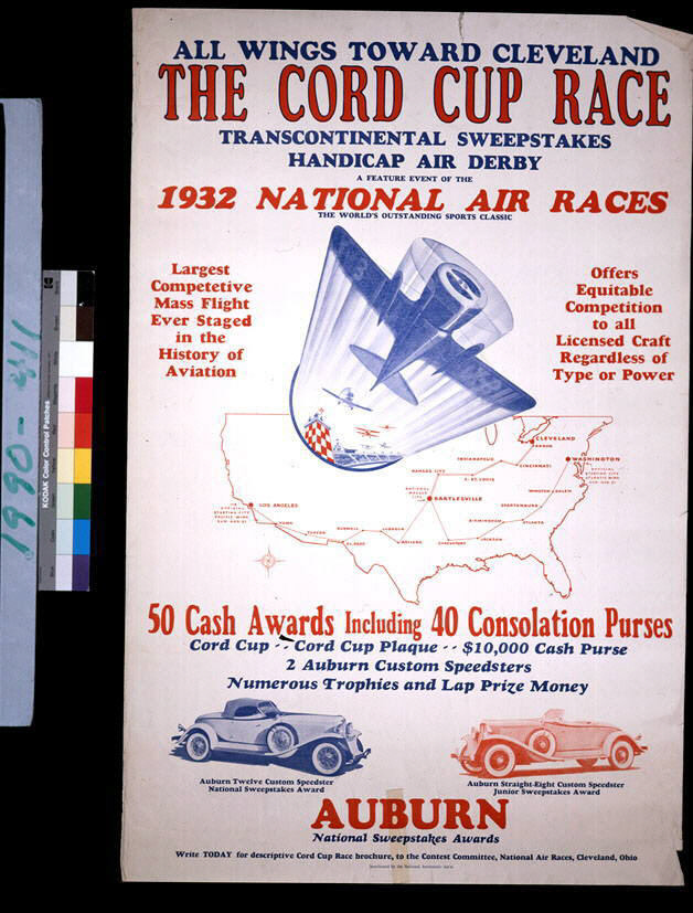 Image of : The Cord Cup Race Transcontinental Sweepstakes Handicap Air Derby