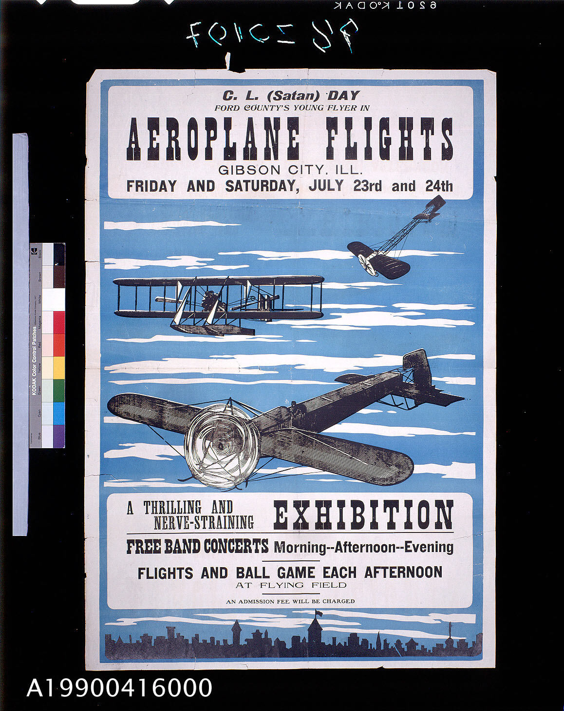 Image of : Aeroplane Flights A Thrilling and Nerve-Straining Exhibition