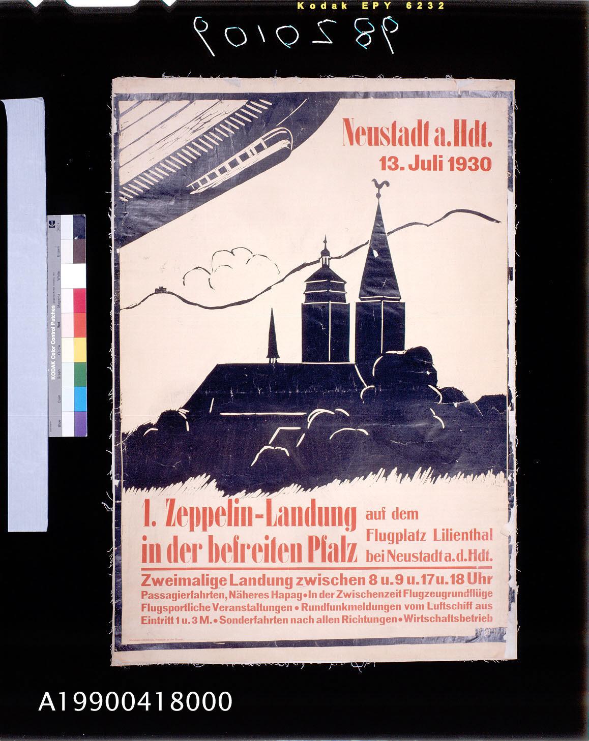 Image of : Zeppelin-Landung in der befreiten Pfalz