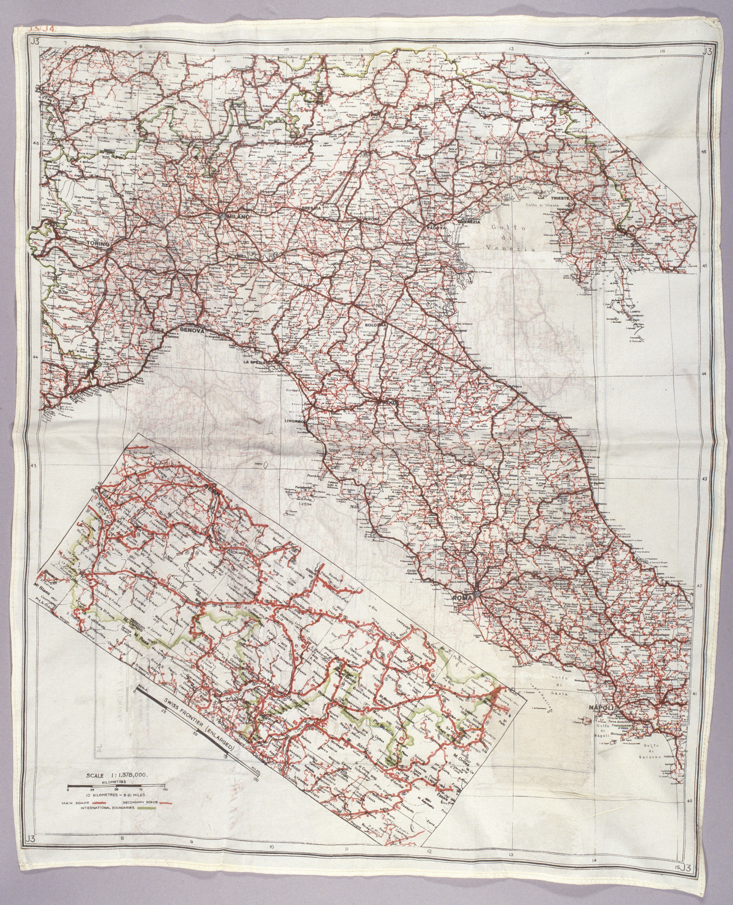 Image of : Map, Italy, United States Army Air Forces, Louis Purnell