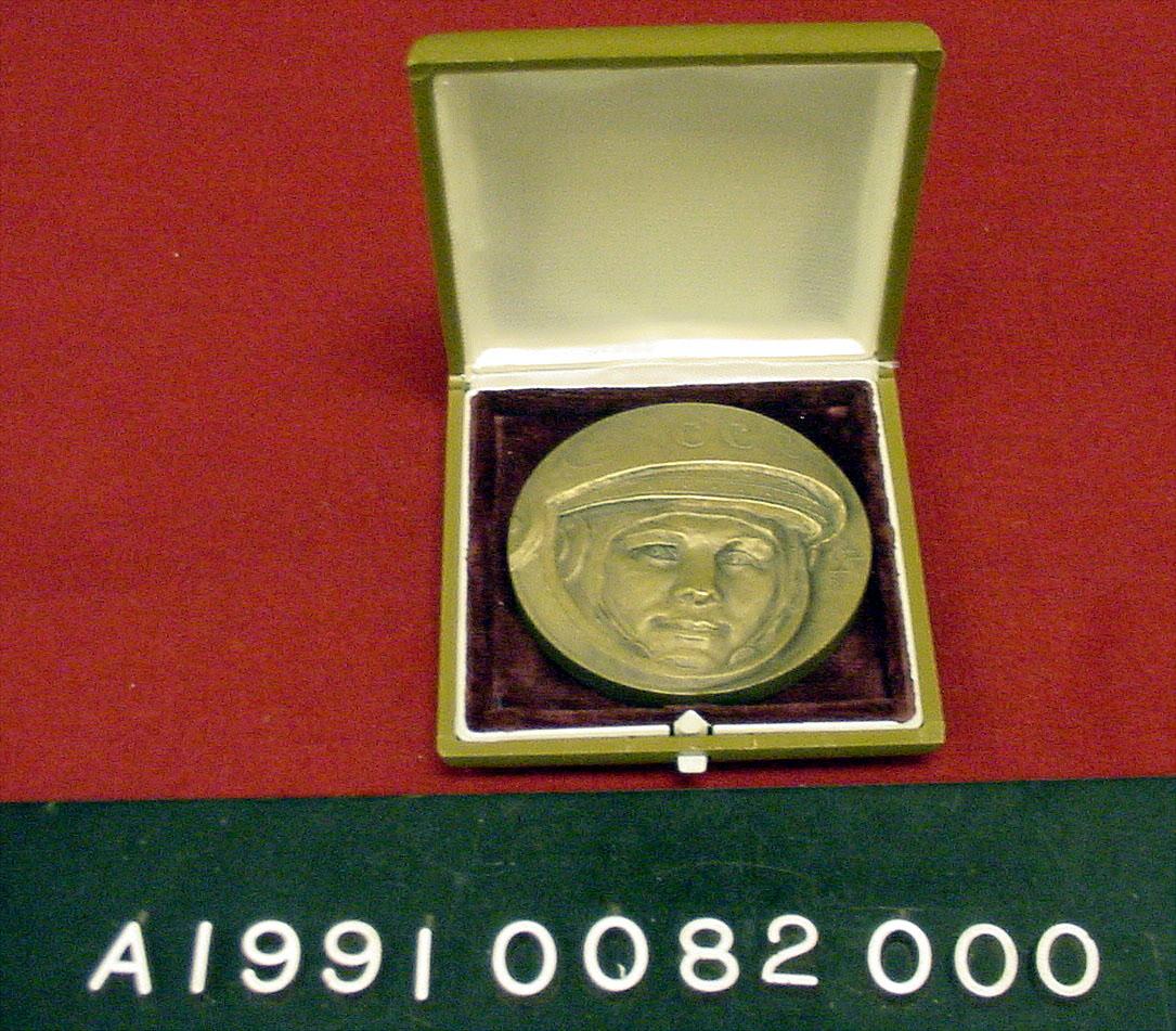 Image of : Medal, Bronze, Yuri Gagarin