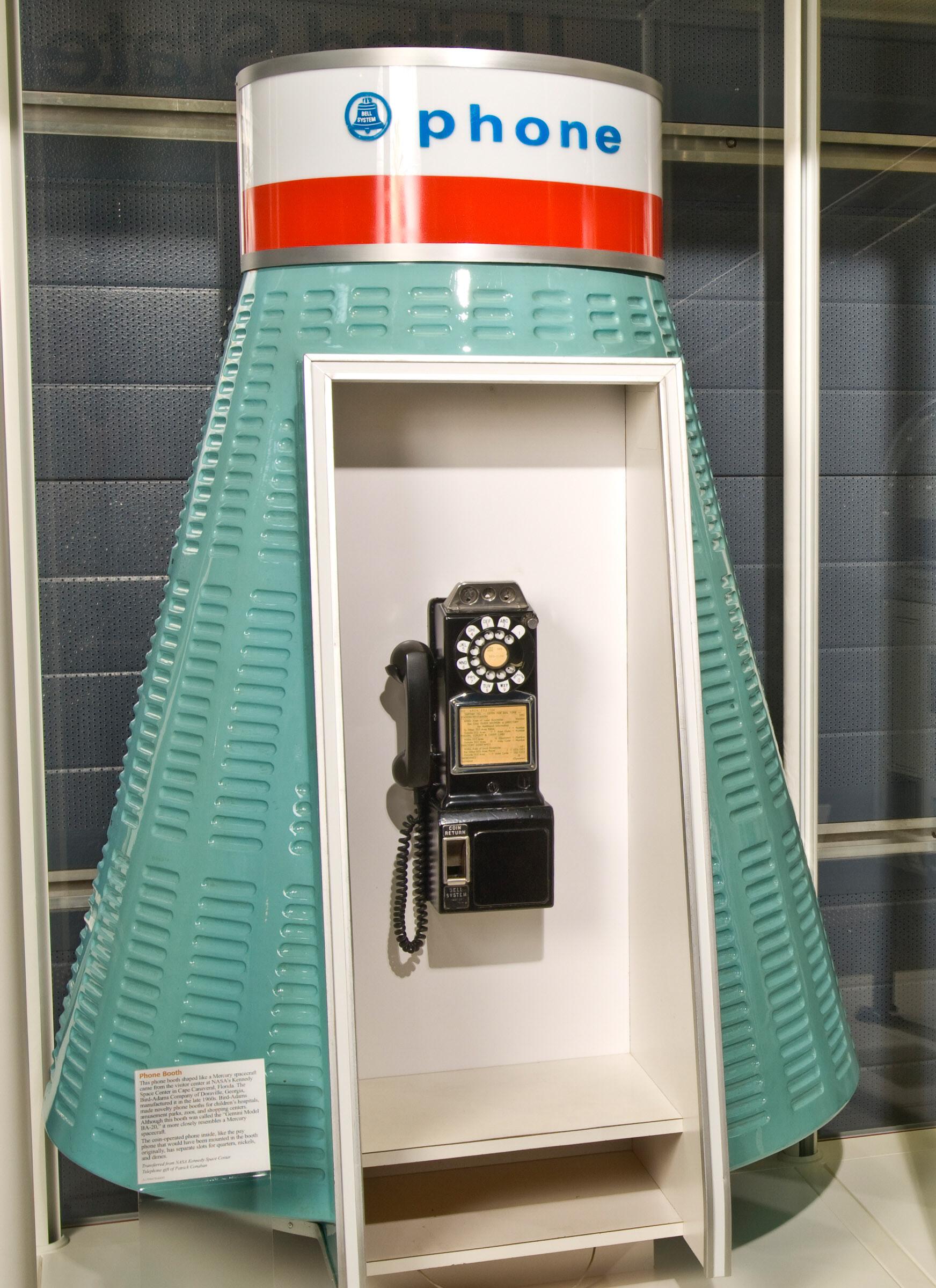 Image of : Phone Booth, Mercury Capsule Shape