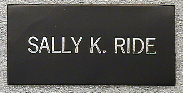 sally ride nasa name patch - photo #12