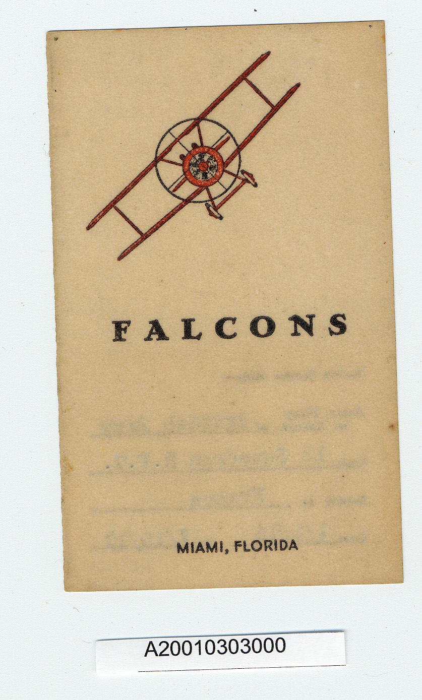Image of : Card, Membership, Falcons